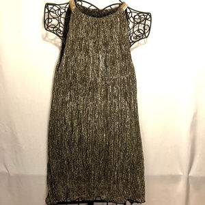 Alfani- Black and Gold/Negro y Oro Mini Dress